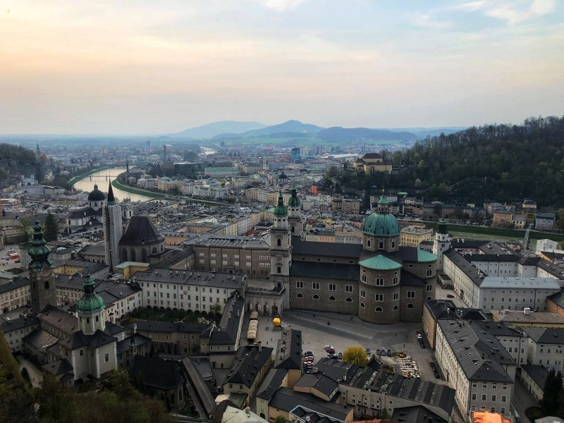 Awesome View Over Salzburg at Hohensalzburg Fortress