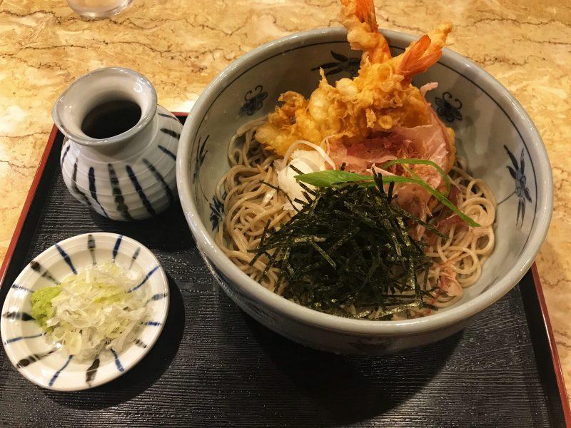 Cold Soba Tempura Set from Fukuan Restaurant