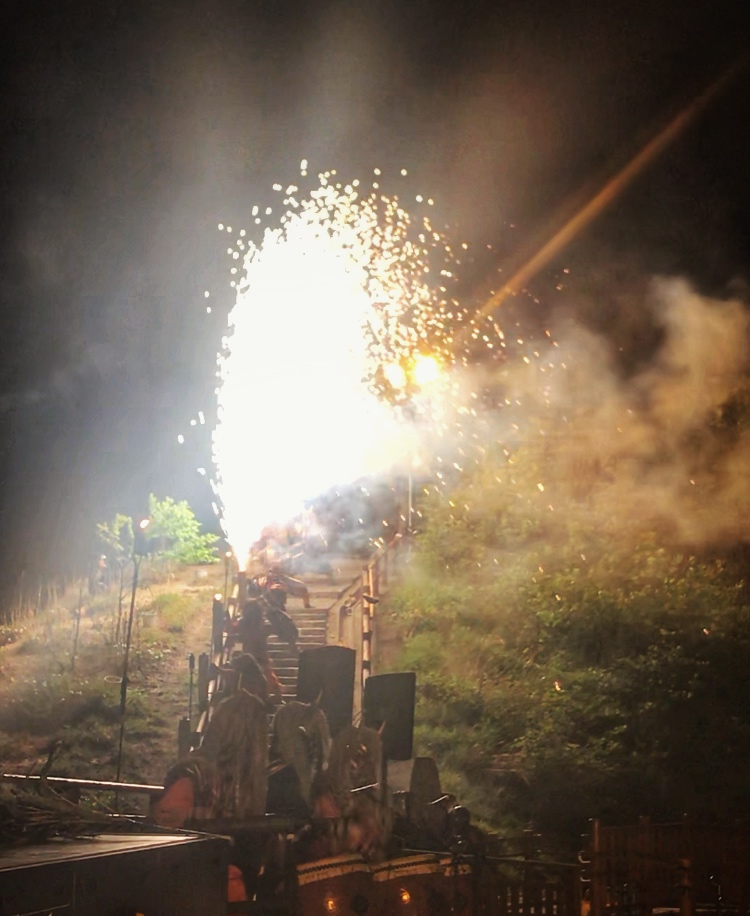 Demon's Fireworks Festival in Noboribetsu