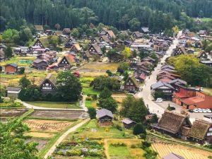 The view of Shirakawago village