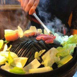 Grill lamb in Jingisukan Daikokuya Asahikawa