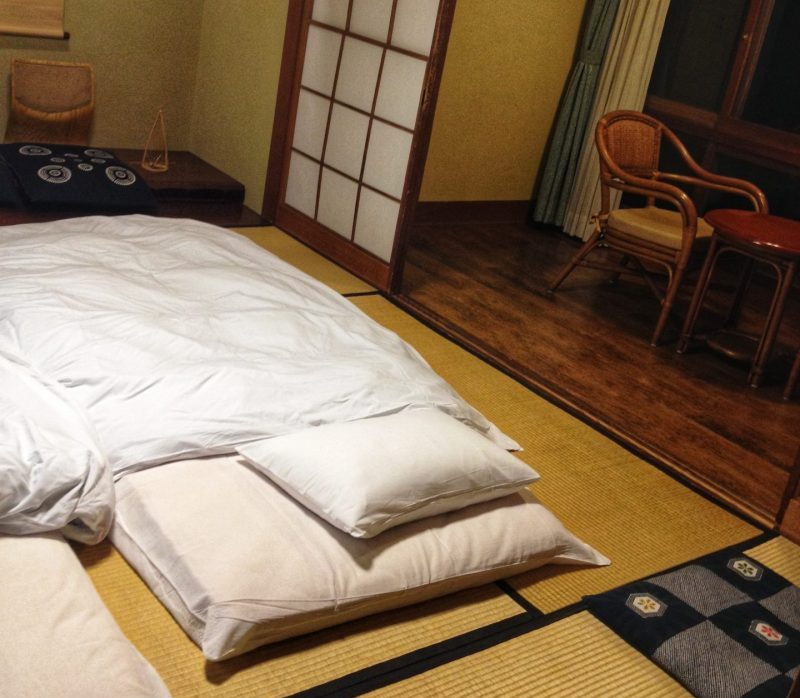 Futon beds in our room