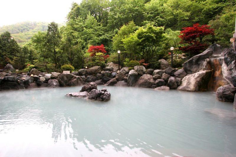 Outdoor Onsen Bath in Noboribetsu