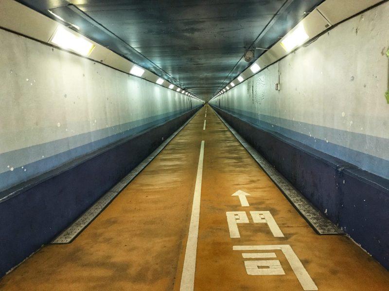 Walk Across The Kanmon Underwater Pedestrian Tunnel